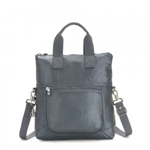 Kipling ELEVA Shoulderbag with Removable and Adjustable Strap Steel Grey Metallic