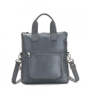 Kipling ELEVA Shoulderbag with Removable and Adjustable Strap Steel Grey Metallic