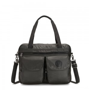 Kipling MARIC Working Bag with laptop protection Black Metallic