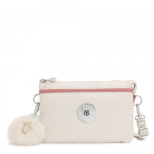 Kipling RIRI Small crossbody bag convertible to pouch Dazz White C