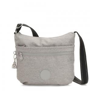 Kipling ARTO Shoulder Bag Across Body Chalk Grey