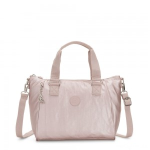 Kipling AMIEL Medium Handbag Metallic Rose
