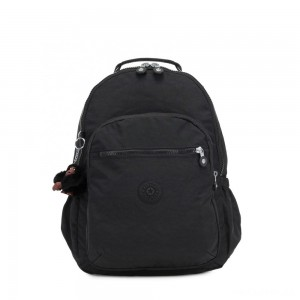Kipling SEOUL GO Large Backpack with Laptop Protection True Black