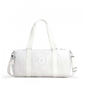 Kipling ONALO Multifunctional Duffle Bag Lively White