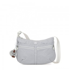 Kipling IZELLAH Medium Across Body Shoulder Bag Active Grey Bl