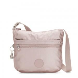 Kipling ARTO Shoulder Bag Across Body Metallic Rose