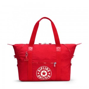 Kipling ART M Medium Tote Bag with 2 Front Pockets Lively Red