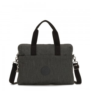 Kipling ELSIL Laptop Bag with Adjustable Strap Black Indigo Work