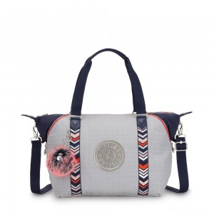 Kipling ART Handbag New Grey Emb Bl