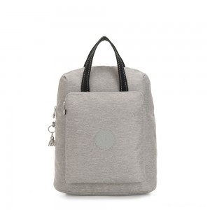 Kipling KAZUKI Large 2-in-1 Shoulderbag and Backpack Chalk Grey
