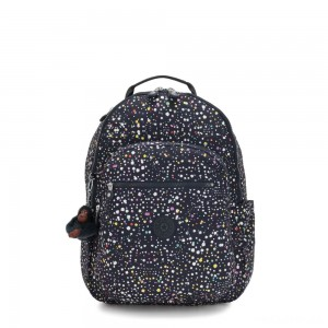 Kipling SEOUL Large Backpack with Laptop Protection Happy Dot Print