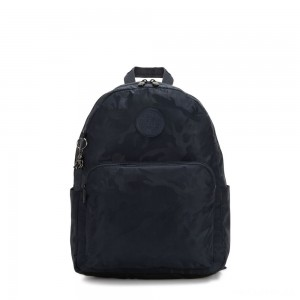 Kipling CITRINE Large Backpack with Laptop/Tablet Compartment Satin Camo Blue