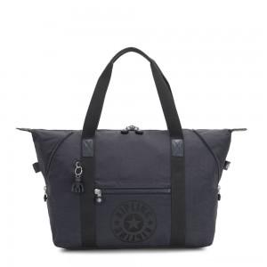 Kipling ART M Medium Tote Bag with 2 Front Pockets Night Grey Nc