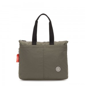 Kipling CHIKA Large tote bag with laptop protection Cool Moss