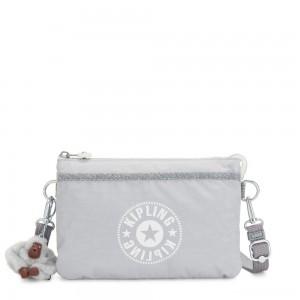Kipling RIRI Small crossbody bag convertible to pouch Active Grey C