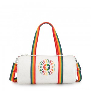 Kipling ONALO Multifunctional Duffle Bag Rainbow White