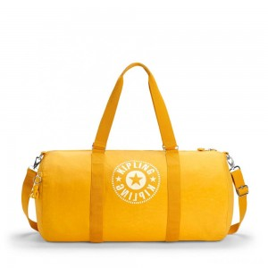 Kipling ONALO L Large Duffle Bag with Zipped Inside Pocket Lively Yellow