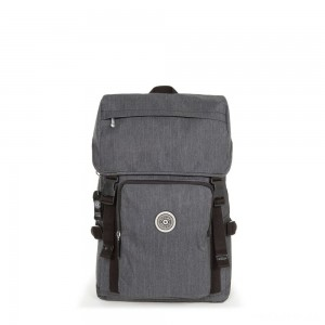 Kipling YANTIS REFLECTIVE Large backpack with reflective fabric and laptop protection Reflective Peppery