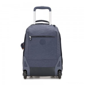 Kipling SOOBIN LIGHT Large wheeled backpack with laptop protection True Jeans