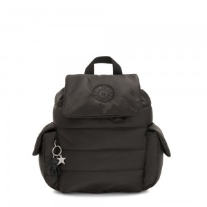 Kipling MANITO Small Puff Effect Backpack Cold Black