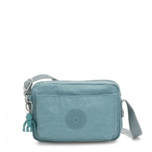 Kipling ABANU Mini Crossbody Bag with Adjustable Shoulder Strap Aqua Frost