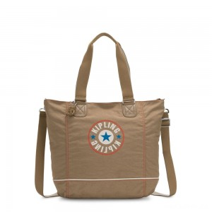 Kipling SHOPPER C Large Shoulder Bag With Removable Shoulder Strap Sand Block