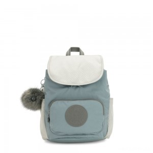 Kipling HANA S Small backpack with pompom monkey keyhanger Soft Green C