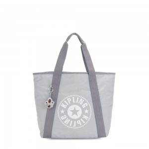 Kipling ZANE Medium tote bag with shoulderstrap Active Grey C