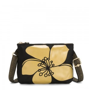 Kipling MAI POUCH Large Pouch Convertible to Crossbody Gold Flower