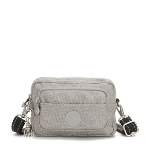 Kipling MULTIPLE Waist Bag Convertible to Shoulder Bag Chalk Grey