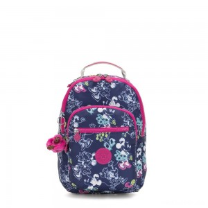 Kipling D SEOUL GO S Small Backpack with tablet protection Doodle Blue