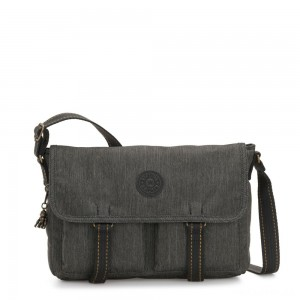Kipling IKIN Medium Messenger Crossbody Bag Black Indigo