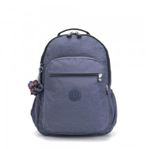 Kipling SEOUL GO Large Backpack with Laptop Protection True Jeans