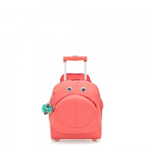 Kipling BIG WHEELY Wheeled School Bag Peachy Pink C