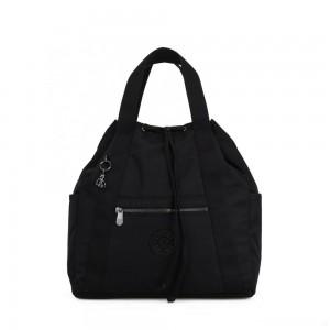 Kipling ART BACKPACK M Medium Drawstring Backpack Rich Black