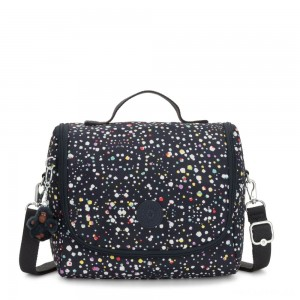 Kipling NEW KICHIROU Lunchbox Happy Dot Print
