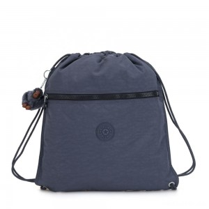 Kipling SUPERTABOO Medium Drawstring Bag True Jeans