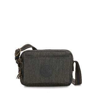 Kipling ABANU Mini Crossbody Bag with Adjustable Shoulder Strap Black Indigo