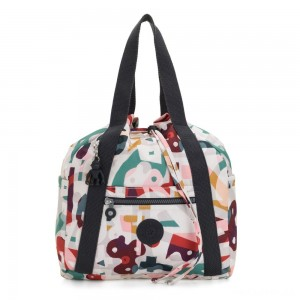 Kipling ART BACKPACK S Small Drawstring Backpack Music Print
