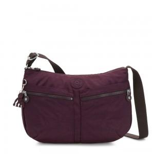 Kipling IZELLAH Medium Across Body Shoulder Bag Dark Plum