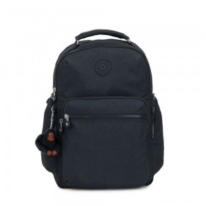 Kipling OSHO Large backpack with organsiational pockets True Navy