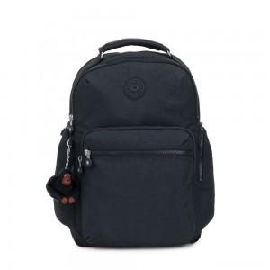 Kipling OSHO Large backpack with organsiational pockets True Navy