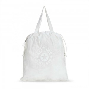 Kipling NEW HIPHURRAY L FOLD Foldable tote bag with drawstring Lively White