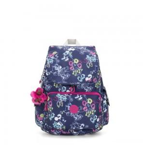 Kipling D CITYPACK Medium Backpack Doodle Blue