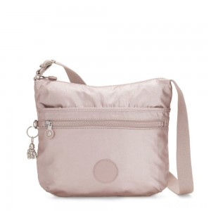 Kipling ARTO Shoulder Bag Across Body Metallic Rose