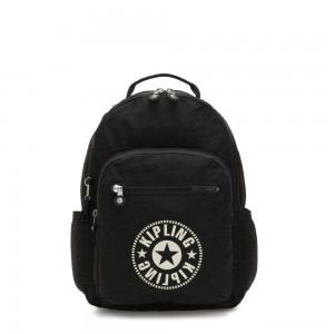 Kipling SEOUL Water Repellent Backpack with Laptop Compartment Lively Black