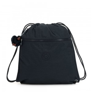 Kipling SUPERTABOO Medium Drawstring Bag True Navy