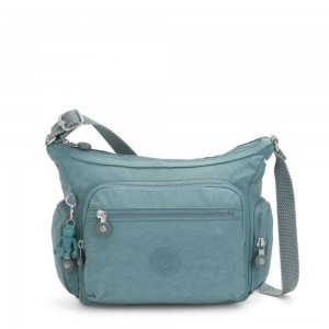 Kipling GABBIE S Crossbody Bag with Phone Compartment Aqua Frost
