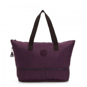 Kipling IMAGINE PACK Large Foldable Tote Bag Dark Plum