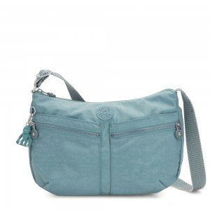 Kipling IZELLAH Medium Across Body Shoulder Bag Aqua Frost